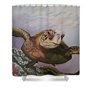 Maui Sea Turtle Shower Curtain