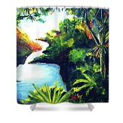 Maui Seven Sacred Falls #184 Shower Curtain