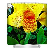 Maui Yellow Floral Shower Curtain
