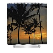 Mauna Loa Sunset - Big Island Hawaii Shower Curtain