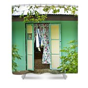 Maupiti Doorway Shower Curtain