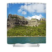 Maupiti Island Cliff Shower Curtain