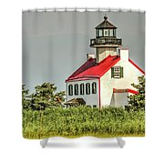 Maurice River, New Jersey, East Pointe  Lighthouse Shower Curtain