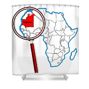 Mauritania Under A Magnifying Glass Shower Curtain