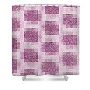 Mauve Plaid Pattern Shower Curtain
