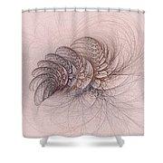 Mauviteer Ferns Shower Curtain