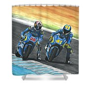 Maverick Y Aleix Full Brake Shower Curtain