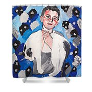 Max Holding Snowflake Shower Curtain