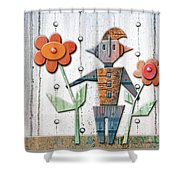 Max The God Of May Shower Curtain