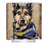 Max The Military Dog Shower Curtain