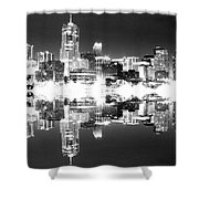 Maxed Cityscape Shower Curtain