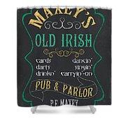 Maxey's Old Irish Pub Shower Curtain
