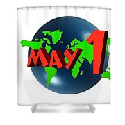 May Day Shower Curtain