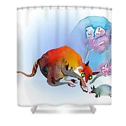 May I Touch You Shower Curtain