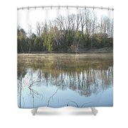 May Morning Mississippi River Shower Curtain