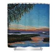 May River Sunset Shower Curtain
