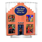 May River Wine Bar Shower Curtain