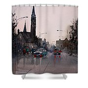 May Showers In Montello Shower Curtain