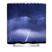 May Showers - Lightning Thunderstorm 5-10-2011 Shower Curtain