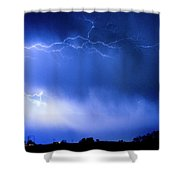 May Showers Two In Color - Lightning Thunderstorm 5-10-2011 Shower Curtain