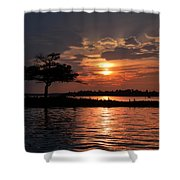 May Sunset At Detroit Point Shower Curtain