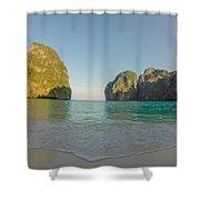 Maya Bay Sunrise Shower Curtain