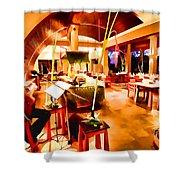 Maya Sari Asiatique Shower Curtain by Lanjee Chee