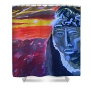 Maya Sunset Shower Curtain