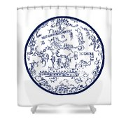 Mayan Cosmos Shower Curtain