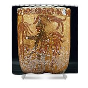 Mayan Priest 700-900 Ad Shower Curtain