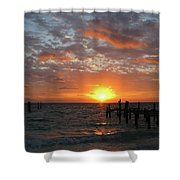 Mayan Riviera Sunrise Shower Curtain