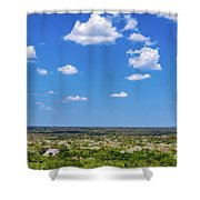 Mayan Temple And Landscape Shower Curtain
