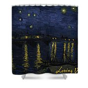 Maybe We Can Take Death To Go To A Star? Shower Curtain