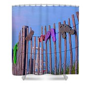 Mayflower Sandals Shower Curtain