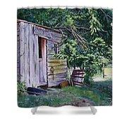 Mayne Island Sawmill Shower Curtain