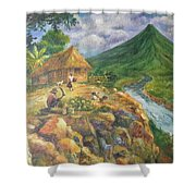 Mayon Scene #1 Shower Curtain