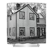 Mayors House Black And White Shower Curtain