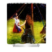 Maypole Moon Shower Curtain