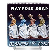 Maypole Soap Retro Vintage Ad 1890's Shower Curtain
