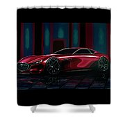 Mazda Rx Vision 2015 Painting Shower Curtain