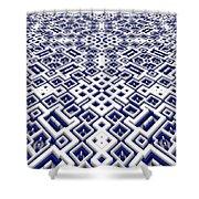 Maze Pattern Shower Curtain