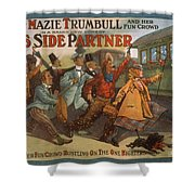 Mazie Trumbull And Her Fun Crowd Dads Side Partner Vintage Entertainment Poster 1908 Shower Curtain