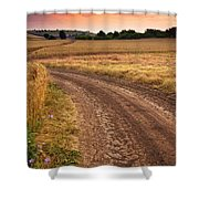 Mazzy Road Shower Curtain