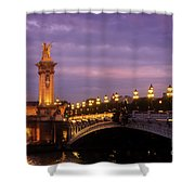 Bridge Of Alexandre IIi At Night Shower Curtain