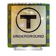 Mbta Underground Shower Curtain