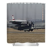 Mc-130h Combat Talon II Of The U.s. Air Shower Curtain