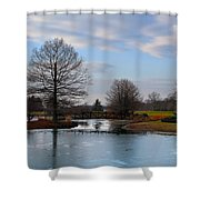 Mcbride Arboretum Winter Morning Shower Curtain