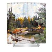 Mccall Landscape Shower Curtain