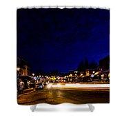 Mccall Road Night Shower Curtain