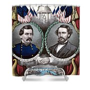Mcclellan And Pendleton Campaign Poster Shower Curtain